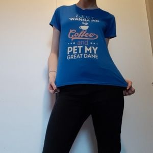 blue graphic t-shirt